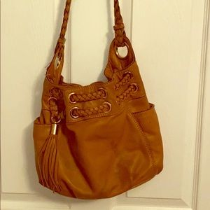 Caramel leather Michael Kors handbag